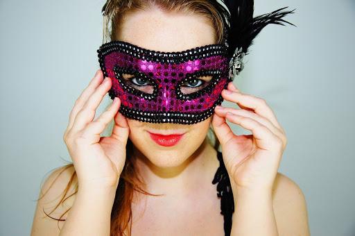 kobieta, maska karnawałowa